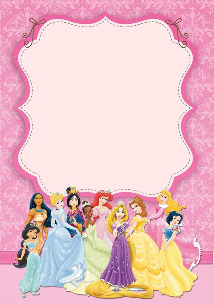 приглашение на день рождение в стиле принцесс