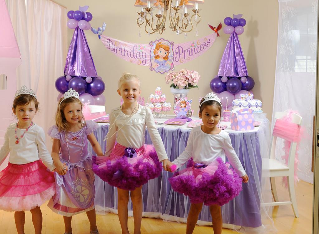 День рождения в стиле принцесс Диснея (Принцессы Софии)