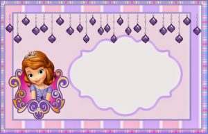 приглашение в стиле принцесса София