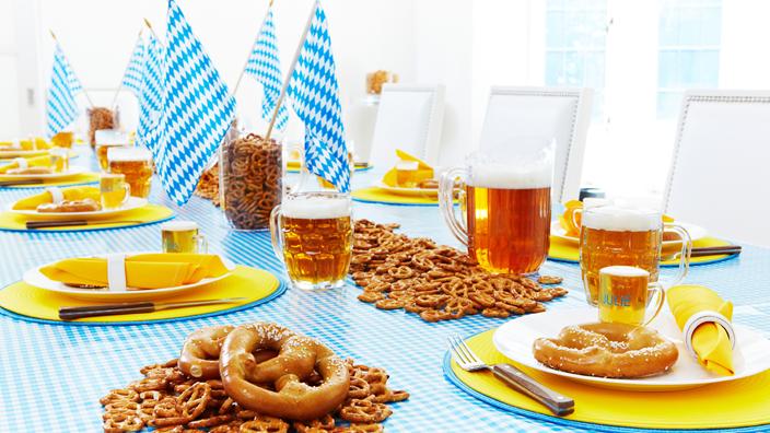 оформление стола для пивной вечеринки