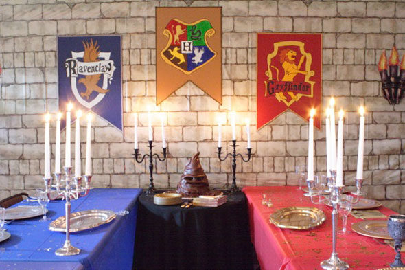 праздничный стол в стиле Гарри Поттера