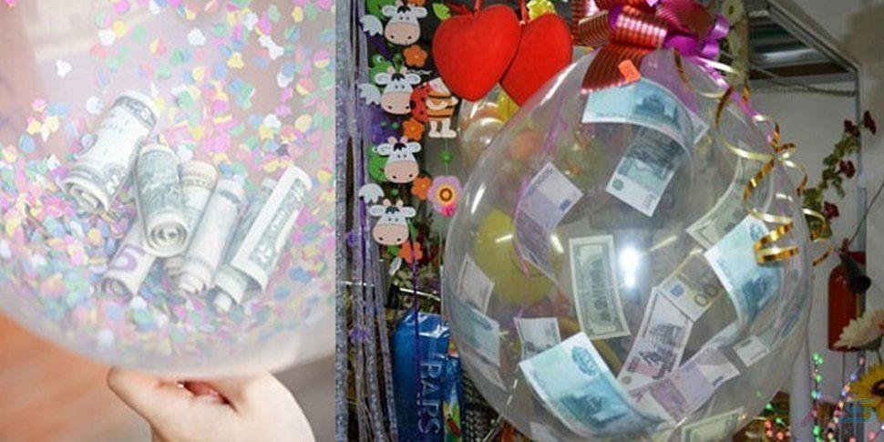 деньги в шариках