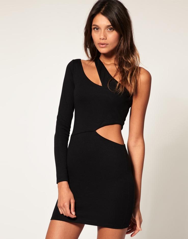 черное платье на новый год