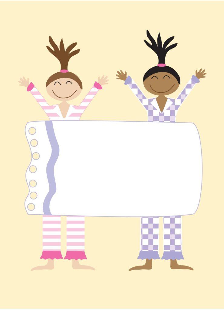 приглашения для пижамной вечеринки