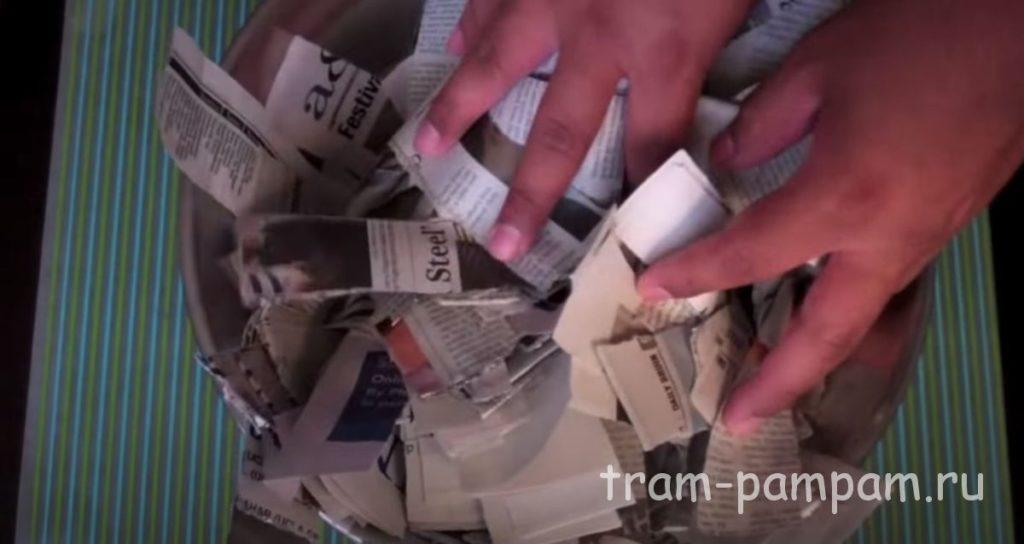 нарезаем газету на полосы