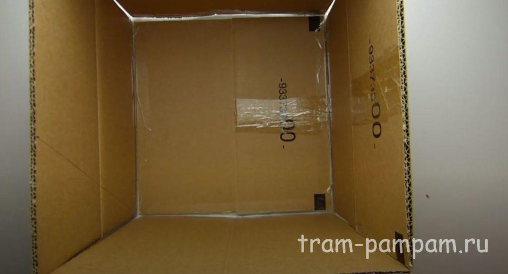 куб из картона