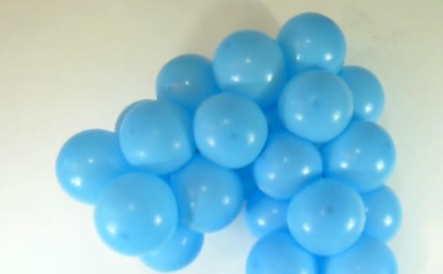 формируем единичку из шариков