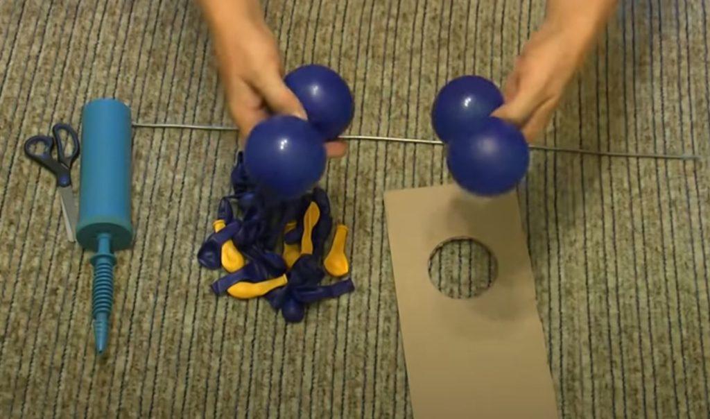 формируем квадрат из шаров