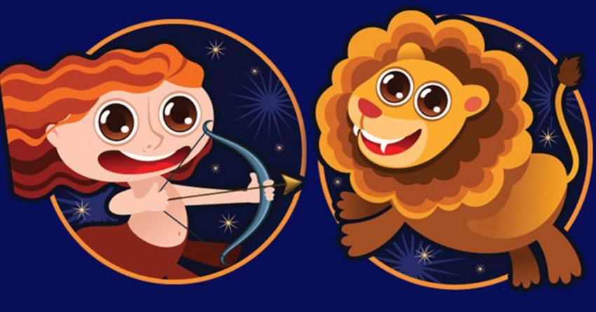 Мужчина лев и женщина стрелец