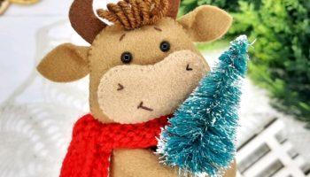 Игрушка на елку бык своими руками новогодняя